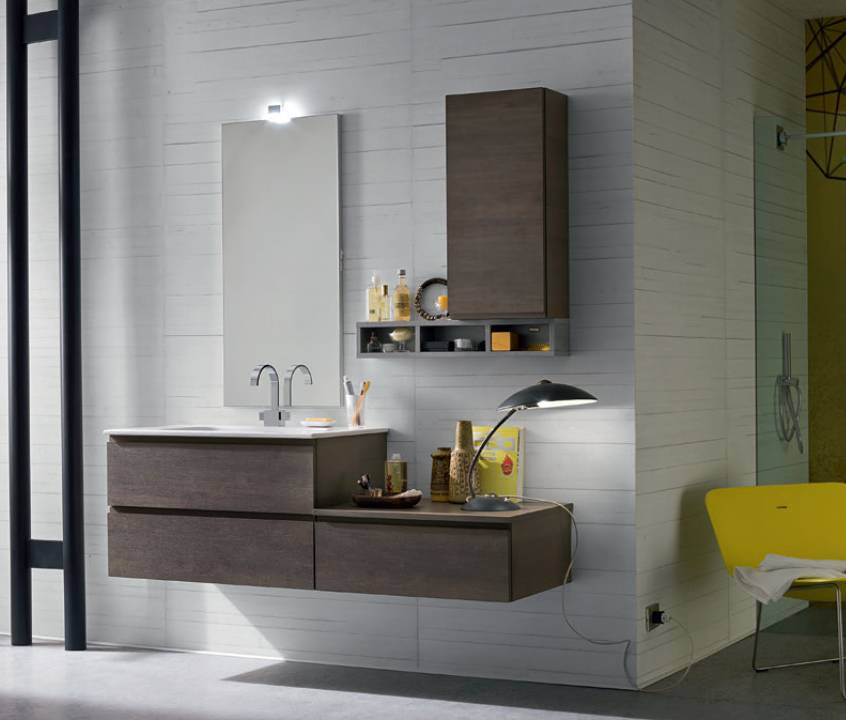 Bagno in rovere brown
