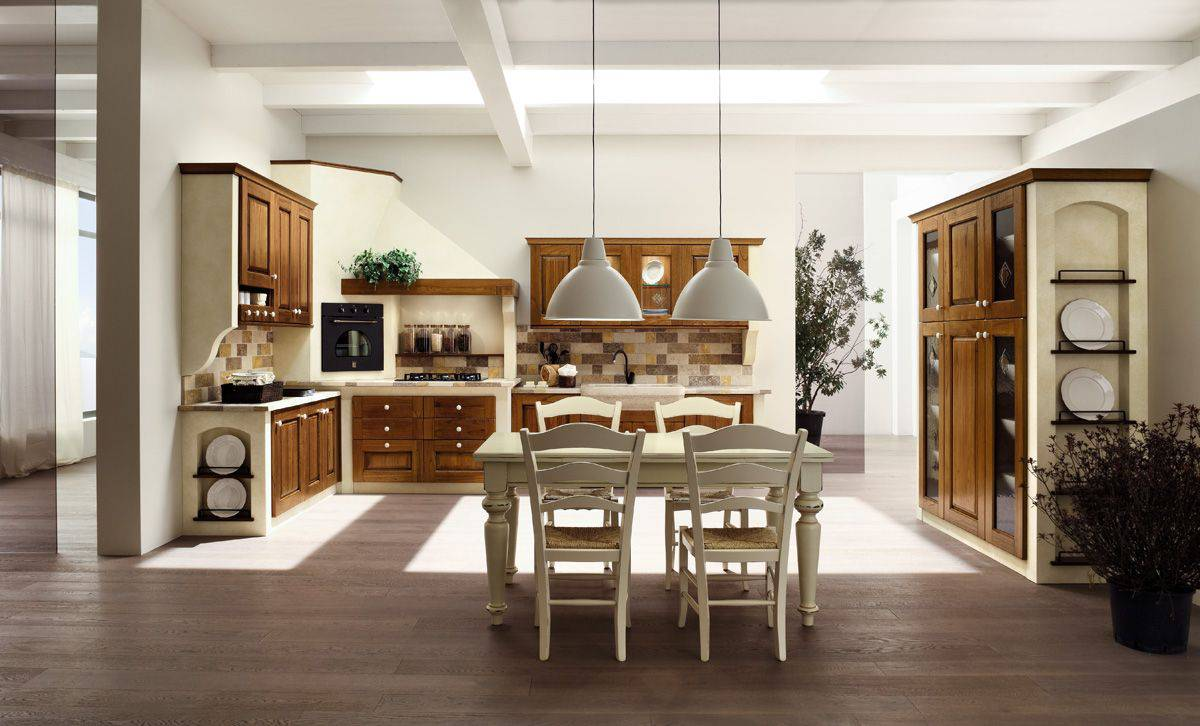 Cucina in muratura classico NORA 2