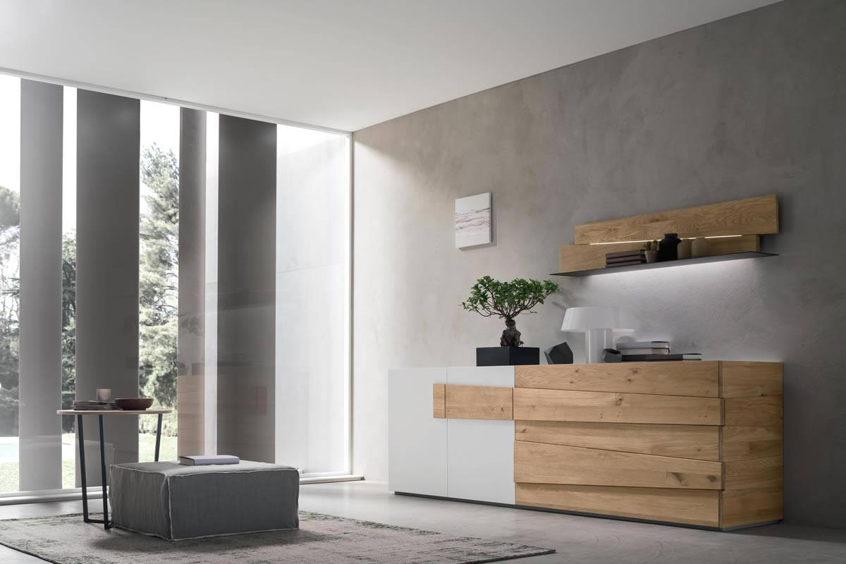 Madia in rovere naturale