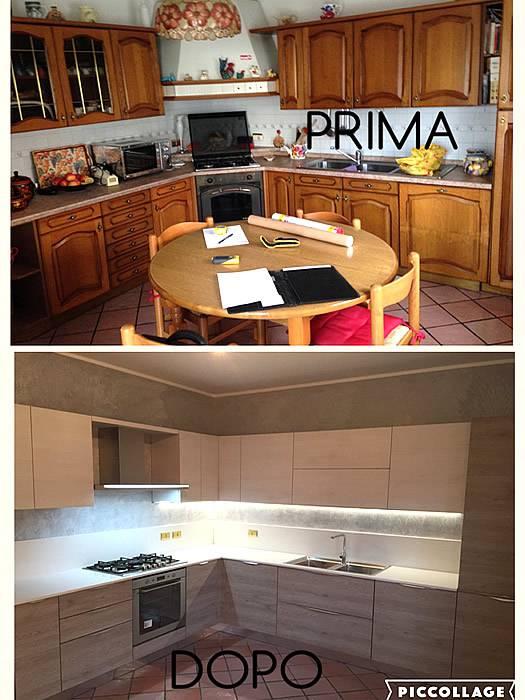 prima e dopo cucina ad angolo