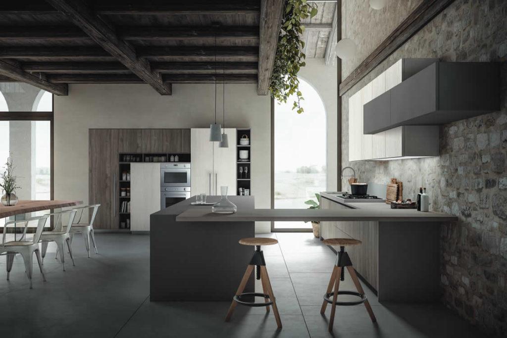 Cucina con venatura verticale - Cucina moderna
