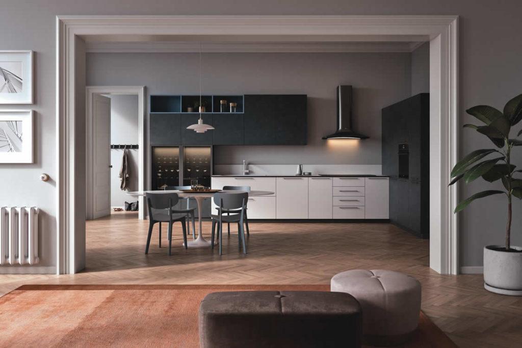 Cucina in effetto roccia - Cucina moderna
