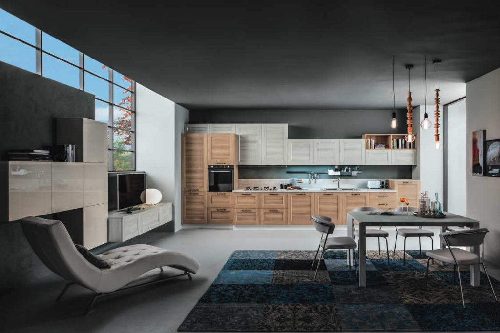 Cucina in larice a telaio - Cucina moderna