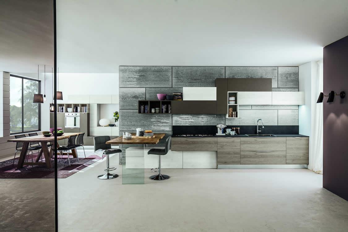 Cucina in materico venato - Cucina moderna