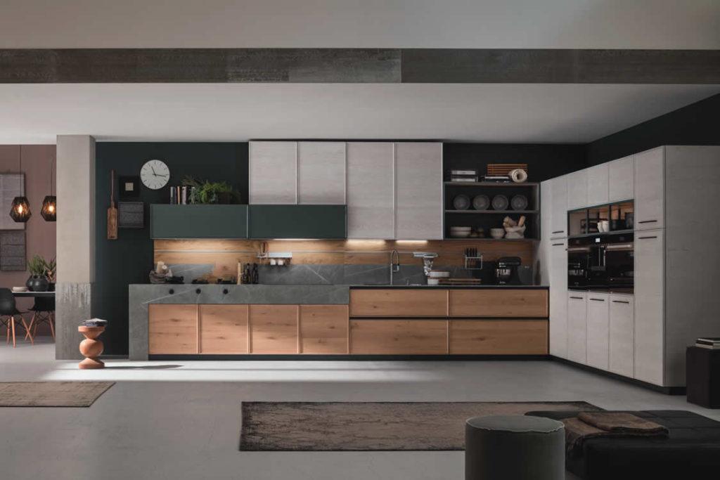 Cucina in rovere naturale a telaio - Cucina moderna