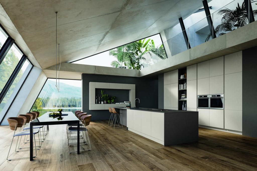 Cucina in vero cemento - Cucina moderna